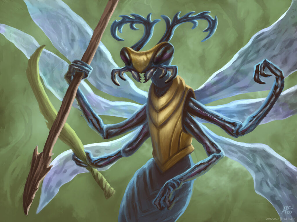 Done for Czech illustration project, monthly topic: Insect warrior.