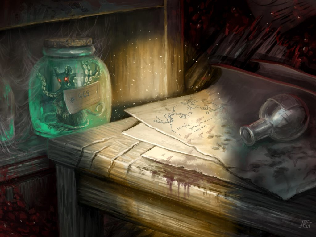 Done for Czech illustration project, monthly topic: Abandoned lab